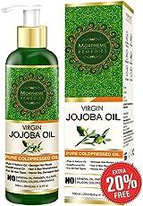 Morpheme Remedies Golden Virgin Jojoba Oil Pure Cold Pressed for Hair and Skin, 120ml