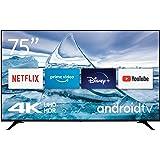 Nokia Smart TV 7500A Téléviseur LED de 75″ (189 cm) 4K UHD, Dolby Vision, HDR10, Assistant Vocal, Triple Syntoniseur - DVB-C/