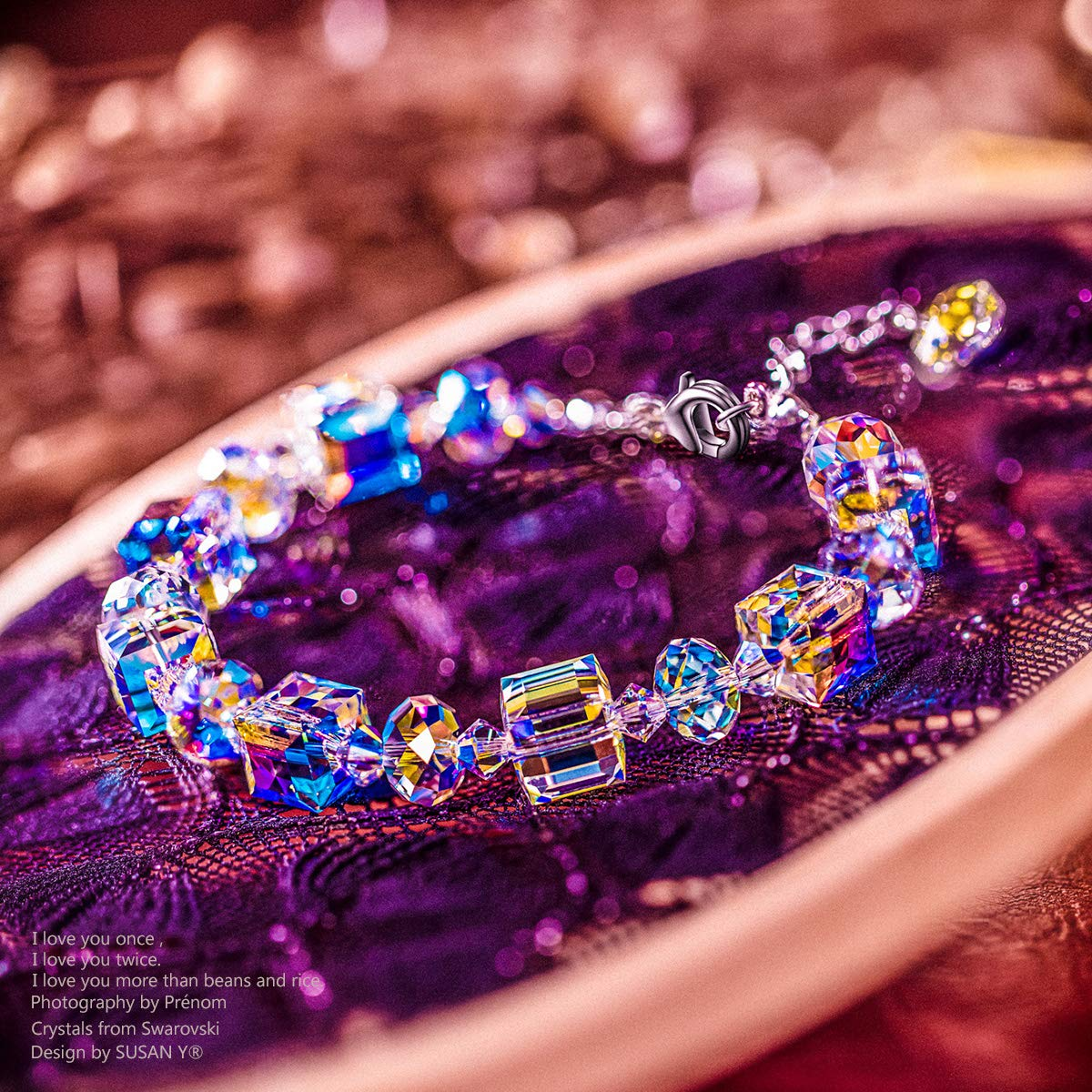 a7acbfc50e285 Susan Y Bracelet for Women A Little Romance with Crystals from Swarovski