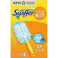 Swiffer Attrape et Retient Kit de Dépoussiérage (1 Manche et 3 Recharges)
