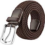 JUKMO Elastic Braided Belt, Stretch Woven Belt in Gift Box