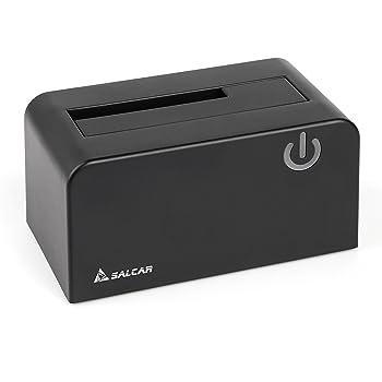 SALCAR Tool Station d'accueil pour Disque Dur USB 3.0 avec Plastique ABS hautement Durable pour disques SATA HD/SATA de 2,5 Pouces et 3,5 Pouces (SATA I/II / III UASP)