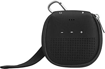 AmazonBasics Speaker Cover with Kickstand (for Bose SoundLink Micro Bluetooth Speaker) - Black