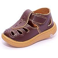 BOOMER CUBS Kids Leather Unisex Sound Walking Sandals
