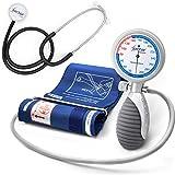 AIESI® Sfigmomanometro Manuale Professionale Aneroide modello palmare per adulti con stetoscopio DOCTOR ANEROID # Garanzia Italia 24 mesi