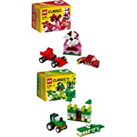 Lego Classic Creativity Box Red & Green Combo (Pack Of 10)
