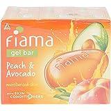 Fiama Men Gel Bar, Peach & Avocado, 125g (Buy 3 Get 1 Free)