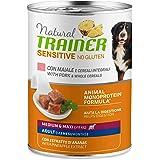 Trainer Natural Sensitive No Glutine - Cibo Umido per Cani Medium-Maxi Adulti con Maiale e Cereali Integrali Pack 12 x 400gr