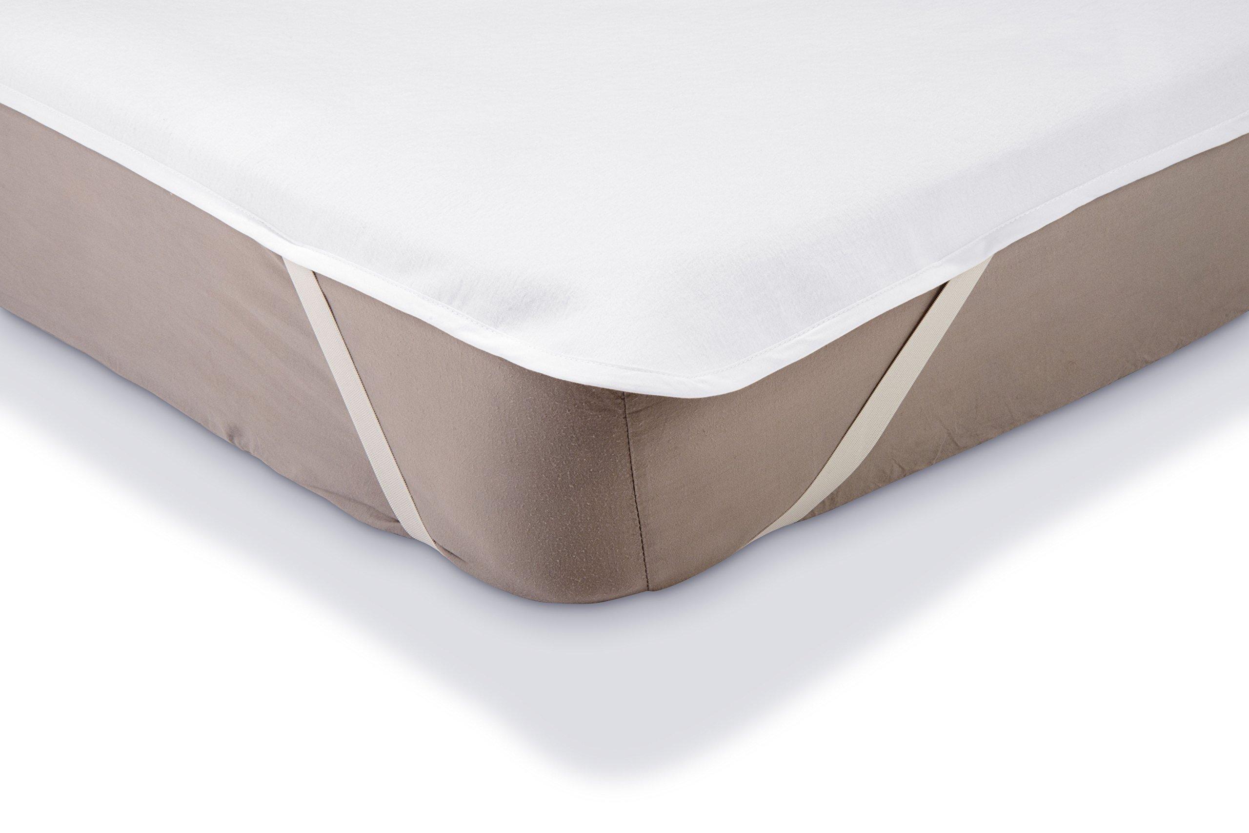 Coprimaterasso Impermeabile Letto Singolo.Amazonbasics Coprimaterasso Impermeabile In Molton Per Letto Singolo 90 X 200 Cm Bianco Casame