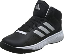 adidas neo Men's Cloudfoam Ilation Mid Cblack, Msilve and Ftwwht Leather Basketball Shoes