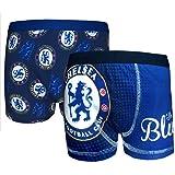 Chelsea FC - Pack de 2 calzoncillos oficiales de estilo bóxer - Para niños - Azul
