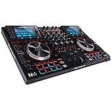Numark NVII - 4-Deck Dual-Display-DJ-Controller mit Serato DJ, 5-Zoll-Metall-Jogwheels, 16 anschlagdynamischen Pads, 10…