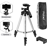 PHOTRON Light-Weight Stedy 350 Tripod with Mobile Holder for Smart Phone, DSLR, Mobile Phone | Maximum Operating Height: 1050mm | Weight Load Capacity: 2kg | 4-Tube Section, Case Included