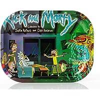 Wepeel - Piccolo vassoio per rollare sigarette in metallo Rolling tray Rick and Morty (18 x 14 cm) (modello 1)