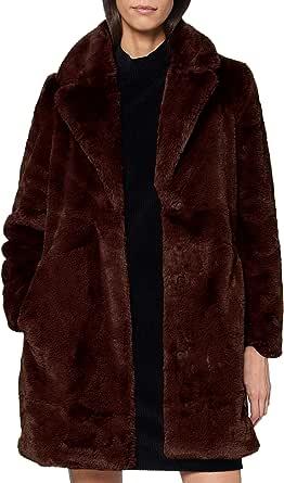 TOM TAILOR Faux Fur Cappotto di Pelliccia Finta Donna