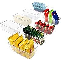 Kurtzy Bac Rangement Frigo et Placard (Lot de 8) - Boite Rangement Refrigérateur 20 cm sans BPA - Bac en Plastique…