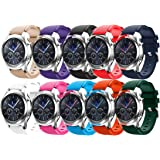 Tabcover Smart Watch Bracelet,10 Colors 22mm Soft Silicone Sports Replacement Strap for Samsung Gear S3 Frontier / Classic watch