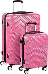 AmazonBasics – Trolley mit geometrischem Muster, 2-teiliges Set (55 cm, 78 cm), Rosa