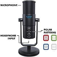 M-Audio - Uber Mic - Microphone USB Professionnel avec Directivité Commutable pour Toute Situation d'Enregistrement et Sortie Casque - Noir
