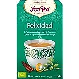 Yogi Tea - Felicidad, Infusión Ayurvédica de Hierbas con Canela, Lúpulo y Cáscara de Naranja - 17 Bolsitas, 34g