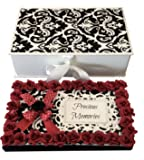 Crack of Dawn Crafts-Precious Memories Photo Album - Red & Black Gift, Valentine Gift, Gift for Wife, Gift for Husband