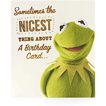 Muppets Kermit the Frog - Happy Birthday - Greetings Card