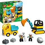 LEGO 10931 DUPLO Town Truck & Tracked Excavator Construction Vehicle Toy Set for Toddlers 2+ Years Old