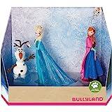 Bullyland 13446 - Jeu de figurines, Walt Disney La Reine des Glaces - Elsa, Anna et Olaf, figurines peintes à la main, sans P