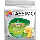 Tassimo Twinings Thé Vert à la Menthe, Lot de 5, 5 x 16 T-Discs