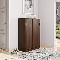 Amazon Brand - Solimo Tucana Engineered Wood Storage Unit with Sliding Doors (Walnut Finish)