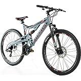 "Moma Bikes Vélo Tout Terrain 27,5"" VTT Shimano, Aluminium, Double Disque et Suspension"