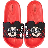Disney Minnie & Mickey Mouse Boy's Girl's Sliders Flip Flops Sandals Waterproof with 3D Character Picture 8-13 Child…