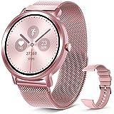 ELEGIANT SmartWatch, 1,28 '' IP68 pekskärm Smart Watch, Woman Smart Activity Armband för sport, Aktivitetsmonitor, Pedometer
