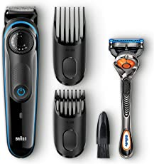 Braun BT3040 Beard/Hair Trimmer for Men with Free Gillette Fusion ProGlide Manual Razor