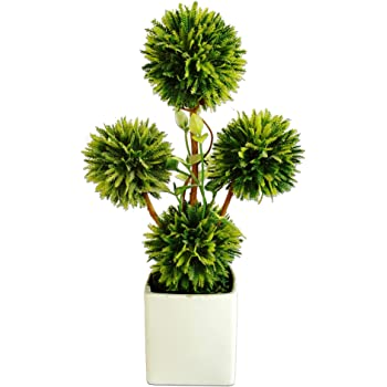 vgia k nstliche pflanzen mit wei en t pfen bonsai dekoration 24 cm. Black Bedroom Furniture Sets. Home Design Ideas