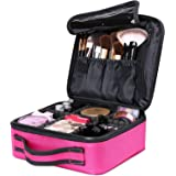 Luxspire Makeup Cosmetic Storage Case, Professional Make up Train Case Cosmetic Box Portable Travel Artist Storage Bag Brushe