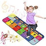 Dreamingbox Antideslizante Alfombra Musical de Piano con 7 Sonidos de Animales y 5 Modos, Volumen Ajustable 110 * 36 cm - Jug