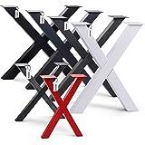 HOLZBRINK Tafelpoot vorm X met gesloten profielen 40x40 mm, tafelvoet 40x43 cm, Diep zwart, HLT-03-F-BB-9005