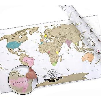 Amazon.de: Scrape Off World Map XXL - Weltkarte zum Rubbeln - Rubbel ...