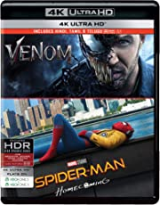 2 Superhero Movies Collection: Venom + Spider-Man: Homecoming (4K UHD)