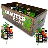 Männer-Kräutergarten | witziges Geschenk mit Alkohol | 8x Kräuter-Likör für Männer und Frauen | Jägermeister, Kümmerling…