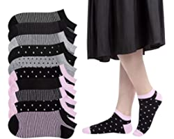 10 Pairs Sports Trainer Sneakers Ankle Socks for Women Short Cotton Socks