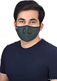 Onroad Co. (N99 Grade Filter) Reusable Anti Pollution Mask, New Esmeralda Series - Large (Ideal for 60-90 kg weight range)
