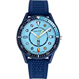 Nautica Men's Surf Park NAPSPF908 Blue Silicone Quartz Fashion Watch