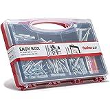 Fischer 513433Kit Easy Box tacos y tornillos surtidos para montaje sobre Murature llenos, Gris, Juego de 136unidades)