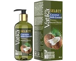 Vatika Select Coconut Milk Extract Shampoo Nourish & Restore No Parabens, Sulphate & Silicones -300ml