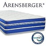 Arensberger ® Flexx 9 Zonen Matratze mit 3D-Memory Foam, 140cm x 200cm, Höhe 25 cm, Allergiker geeignet, 2 Schichten: Kaltschaum + Visco Smart Schaum