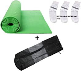 QuickShel Accupressure 100% EVA Eco-Friendly 8mm Yoga mat & bag +Two Pair Sport Socks