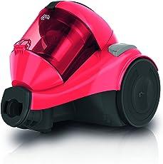 Dirt Devil DD2324-7 Popster Singlecyclone Staubsauger EEK B (800 W Hocheffizienzmotor, 1,5 L, HEPA Media Ausblasfilter, zus. Hartbodendüse, Fugendüse und Möbelpinsel am Rohr, ohne Beutel) rosa
