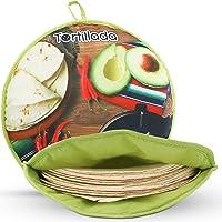 Tortillada - Chauffe tortilla de 30 cm/Récipient chauffant micro-ondable en coton/polyester